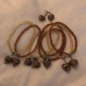 Jewelry - Set of 7 bracelets with earrings